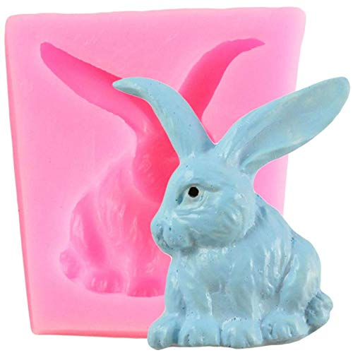Rabbit 3D Easter Bunny Silicone Mould Fondant Cake Decorating Tools Candy Chocolate Gumpaste Moulds Cake Baking Mould