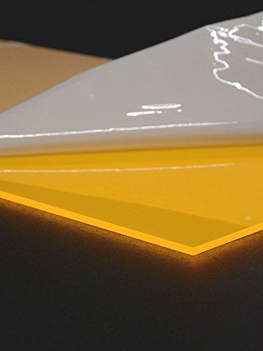 3mm Negro Luz acrílico cristal placa Neon Color Naranja fluorescente, 60x 30cm