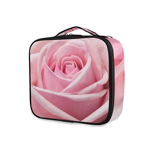 Rose Rose Bloom Trousse de Maquillage Professionnelle Sac de Voyage Trousse de Maquillage Organisateur Portable Maquillage Trousse de Toilette Trousse de Maquillage Sac de Voyage pour Femme