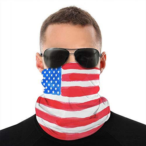 987 unisexe microfibre cou guêtre Shieldask poussière Bandanas couverture aquarelle drapeau américain housse de Protection