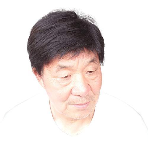 Topjin 17,8 cm Homme 'Postiche transparente remplacements de cheveux humains des Perruques Extensions de cheveux Noir naturel