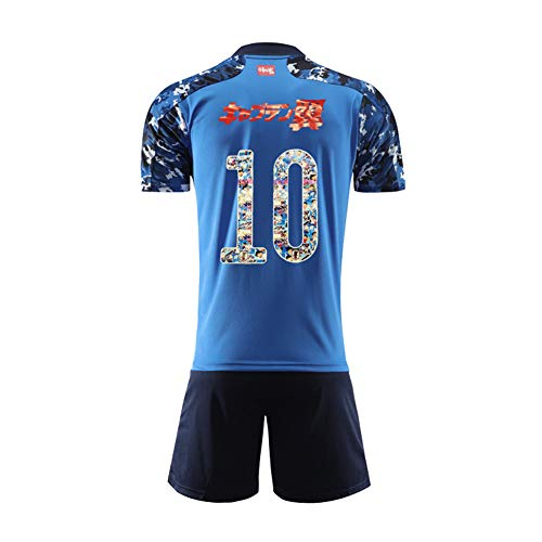 Erwachsener Kinderfußballanzug, Ozora Tsubasa 10 doan 7 Anime Special Edition Trikot, Personalisiertes Fußballtrikot Fußballtrikot Kits T-Shirt Shorts Socken-Special Edition 10-L
