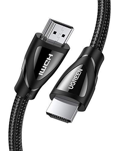 UGREEN 8K HDMI 2.1 Kabel Ultra High Speed bis 48Gbps HDMI Kabel für 8K@60Hz, 4K@120Hz, 48Gbps, eARC, Dolby Vision, HDR 10 kompatibel mit PS5, PS4 Pro, Receiver, Xbox S, OLED TV usw. (3m)