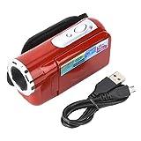 Deror Niños portátiles Cámara de Video con videocámara Digital HD 16X para niños con Pantalla TFT LCD(Rojo)