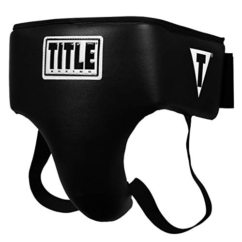 Title Boxing Deluxe Groin Protector Plus 2.0, Black, Small