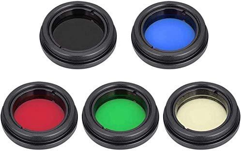 Filtro de cor de lente telescópio, filtro de lente ocular com rosca em polegada adequado para visualizações aprimoradas da lua/Júpiter/Marte/céu profundo, ótima pré-visualização