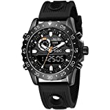 Black Military Analog Wrist Watch for Men, Mens...
