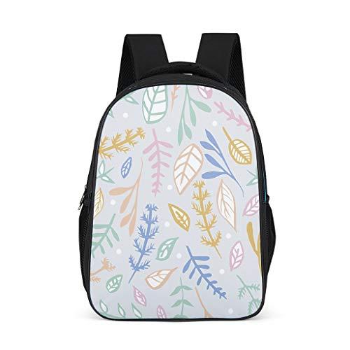 Fineiwillgo Mochila con diseño de hojas de hojas, impermeable, mochila de senderismo, para mujer, para exteriores, color gris brillante, talla única
