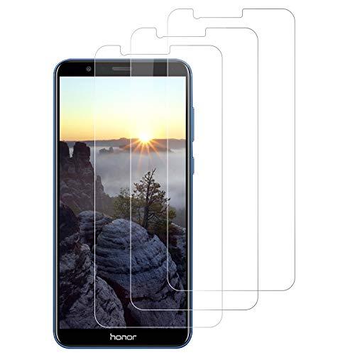 DOSNTO [3 Stück Panzerglasfolie für Huawei Huawei Honor 7X, 9H Festigkeit Panzerglas Bildschirmschutzfolie, Anti-Öl, Anti-Kratzen, Bläschenfrei, Hülle Fre&llich Schutzfolie für Huawei Honor 7X