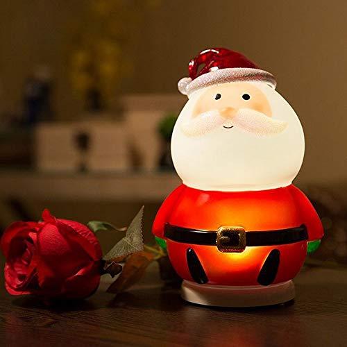 XIAOXINYUAN Creativo Babbo Natale Ha Condotto La Lampada da Comodino Sonno Nightlight Bambini Regalo Casa Natale Decorazioni