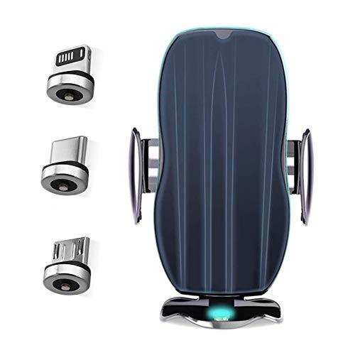 HKJZ SFLRW Montaje con Cargador de Coche inalámbrico, sujeción automática 10W Cargador inalámbrico rápido ventilación de Aire Soporte de teléfono