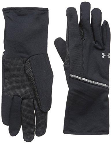 Under Armour Women's ColdGear Infrared Liner Gloves, Black (001)/Silver, Large