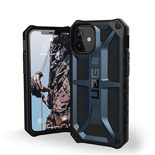 """Urban Armor Gear Monarch Funda Apple iPhone 12 Mini (5,4"""") [Protección de 5 Capas el estándar Militar, Compatible Carga inalámbrica, Resistente a los choques] Azul (Mallard)"""