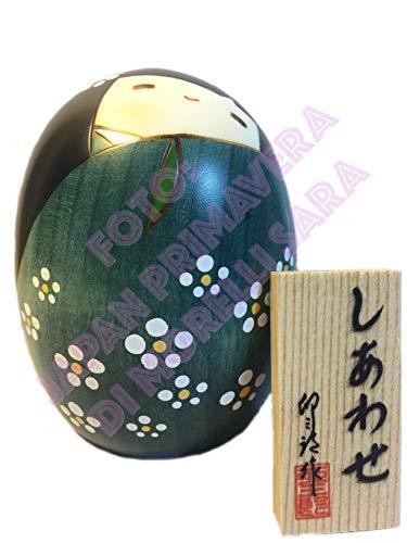 Poupée Kokeshi bonheur vert S