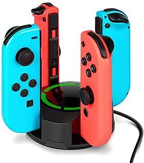 comprar comparacion Dock de carga para controles Joy-Con de Nintendo Switch, NesBull soporte de carga 4 en 1 para controles Joy-Con de la cons...