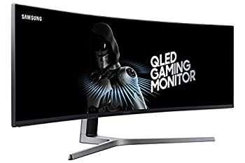SAMSUNG 49-Inch CHG90 144Hz Curved Gaming Monitor  LC49HG90DMNXZA  – Super Ultrawide Screen QLED Computer Monitor 3840 x 1080p Resolution 1ms Response FreeSync 2 with HDR,Black