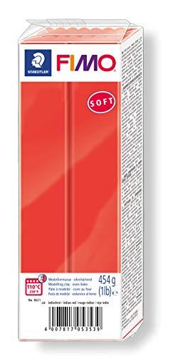 STAEDTLER-8021-24 ST Pasta de modelar de endurecimiento al horno, Color rojo indio, (8021-24)