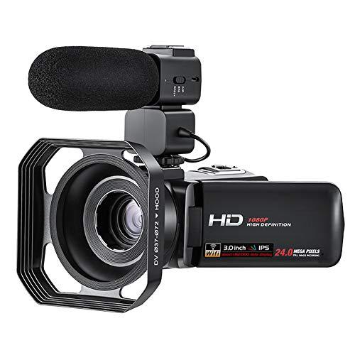 vap26 Digitale Camcorder Video Camera 1080P HD Vlog Camera, 3'' 30fps IPS Touch Screen Night Vision Video Recorder met Microfoon ondersteuning APP Controle