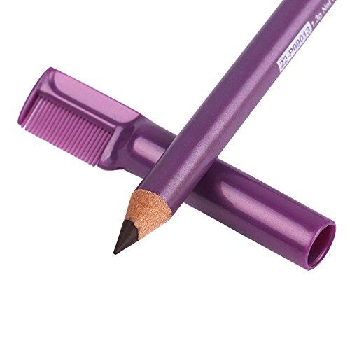 AKAAYUKO 1PCS Crayon a sourcils Etanche Longue Duree Crayon a sourcils Brosse de Maquillage-Brun foncé