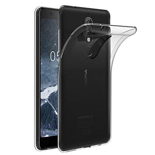 iVoler Cover Compatibile con Nokia 5.1 / Nokia 5 2018, Silicone Case Molle di TPU Trasparente Sottile Custodia