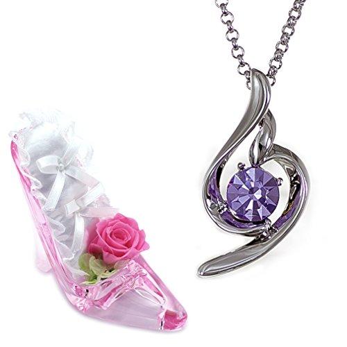 [デバリエ] y441-xh-vio 12月誕生日プレゼント 女性 人気 贈り物 女性に人気のネックレス お返し レディース セット品(ヒール1組 アクセ1組)女性が喜ぶ ギフト 誕生石 タンザナイト