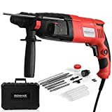 Ironmax Professional Tools 1' SDS-Plus Rotary Hammer, 3 Mode in 1 Electric 9 Amp Corded Hammer Kit, with Adjustable Speed, Rotating Handle, Grease, Flat and Point Chisels, 3 Drill Bits and Case
