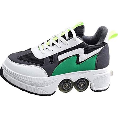 Rollerskates Disco Roller Skate Deformation Schuhe für Unsichtbare Schuhe Fersenroller Kinder - für Mädchen und Jungen - Weihnachten Geburtstagsgeschenk,35