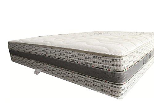Flexar Luxury - Materasso a 1600 micromolle con Doppio Strato Memory 3cm,7 Zone(Dimensione 80x190,Singolo)