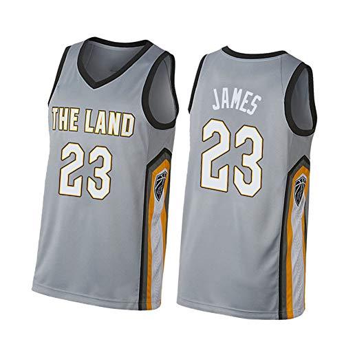 CLKI LeBron James # 23 Cavaliers - Camiseta de baloncesto y pantalones cortos para hombre (S-2XL) gris A-XL