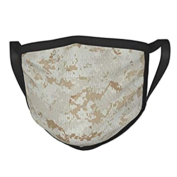 Marine Marpat Digital Desert Camo Men Women Washable Reusable Wind Dust and UV Face Mask Comfortable and Breathable Face Cover Suitable for Daily Outdoor