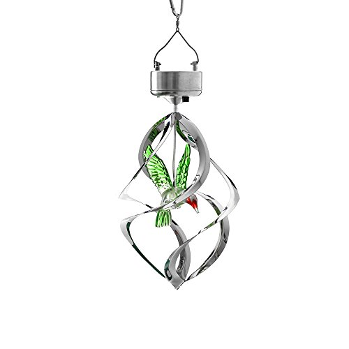 AGPtek Outdoor Hanging Decorative Hummingbird Light Solar Powered Color Changing LED Lamp for Garden/Courtyard/Patio/Wedding/ Party