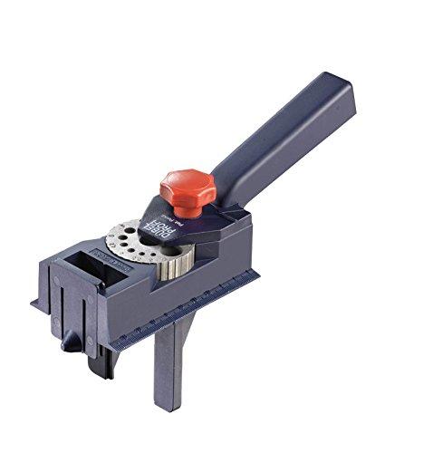 kwb Dübelprofi – universal Bohrschablone mit verstellbaren Bohrlochgrößen, für Holzdübel geeignet, rutschfest, Ø 3-12 mm