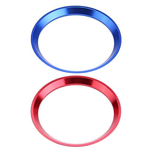 Broco Anillo de volante para coche, cubierta de anillo para volante de coche para M-ercedes Benz CLA GLK Clase A W204 W246 W176 W117 C117(Azul)