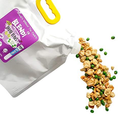 Blendi Snacks Saludables Bajo en Calorías - Aperitivos Sin Gluten, Altos en Proteína Vegana y Fibra - Habas y Guisantes Tostados Crujientes, Sabor Cebolla Roja - 1.3kg Bulk Bag