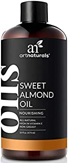 ArtNaturals Premium Sweet Almond Oil - (16 Fl Oz / 473ml) - 100% Natural & Pure – Therapeutic Grade Unrefined Carrier and Massage Oil – for Hair, Body and Skin or Diluting Aromatherapy Essential Oils