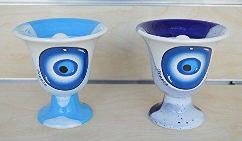 Talos Artifacts 2 Stück Pythagoras Tassen der Gerechtigkeit - Greedy Cup - Evil Eye Protector Design