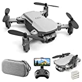 Mini Drone for Kids and Adults, GoolRC LS-MIN RC Quadcopter with 1080P Camera, 360° Flip, Gesture Photo/Video, Track Flight, Altitude Hold, Headless Mode, Include Carry Bag and 3 Batteries (Grey)