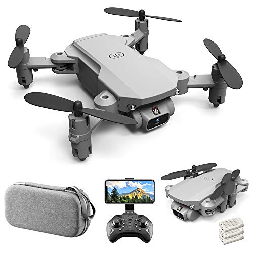 GoolRC Mini Drone for Kids and Adults, LS-MIN RC Quadcopter with 4K Camera, 360° Flip, Gesture Photo/Video, Track Flight, Altitude Hold, Headless Mode, Include Carry Bag and 3 Batteries (Grey)