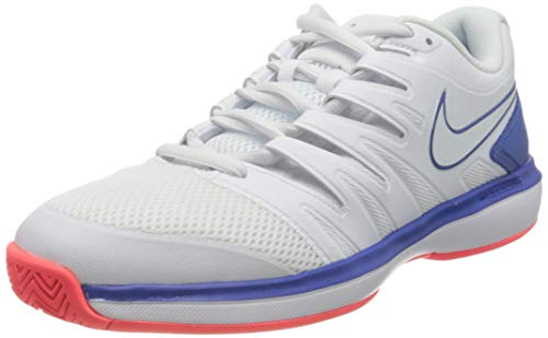 Nike Air Zoom Prestige HC, Scarpe da Tennis Uomo, Bianco (White/White-Game Royal-Flash C 103), 45.5 EU