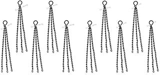 GARDEN KING Metal Chain for Hanging Basket, Bird Feeders and Hanging Pots (14 Inch Length, Pack of 10) Plant Pot Chain Han...