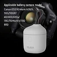 Flytise 3 in 1多機能カメラ充電器キットセット2個セットSDカードリーダー&収納キャリー機能付きポータブル充電ボックスケースCanon LP-E6用バッテリーCanon 80D 70D 60D 6D 5D Mark II III 5D 5D 2 5D 3 5D 5D 4