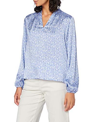 OPUS Damen Fodana floral Bluse, Morning Blue, 38