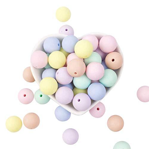 Silicone perles rondes bonbons couleur 12mm 50PC bébé dentifrice Accessoires Collier Enfant Collier DIY infirmière enfants perles