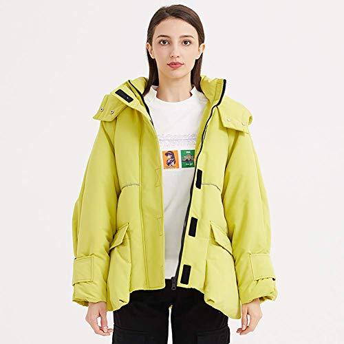 GuoZh Damen Winterjacke - Damenjacke Warm Front Pocket Stand Collar Urban Fashion Trend Kapuzenjacke - Geeignet für Urlaubsreisen