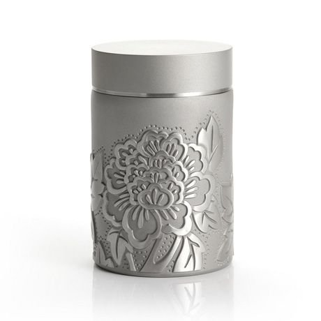 For Sale! Royal Selangor Hand Finished Peony Collection Pewter Airtight Tea/Coffee Caddy Gift