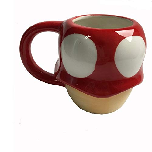 Creative 3D mushroom coffee mug hot movie Super Mario Cartoon Expression mugs coffee cups Ceramic Drinkware for Birthday Gift - mushroom
