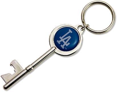 MLB Los Angeles Dodgers Skeleton Key Bottle Opener Key Ring product image