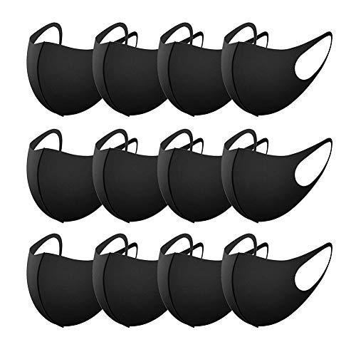 Hotportgift Hängendes Ohr Mode Staubdicht Masken, Bequem Und Atmungsaktiv Anti Nebel Masken, 12 Pcs Waschbar