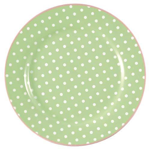 GreenGate - Teller - Frühstückstelle - Kuchenteller - Spot - Porzellan - grün - Ø 20,5 cm