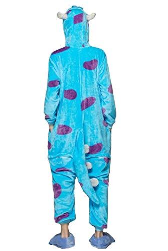 Emmarcon - Disfraz de carnaval halloween pijama cálido de animales kigurumi cosplay zoológico onesies M/altezza 160-169cm,max 80kg Sullivan